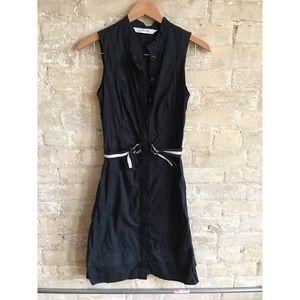 Zara sleeveless button front dress in crisp cotton
